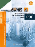 Automatisierungstechnik für die Lebensmittelindustrie Katalog 2015/2016