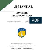 Concrete Technology (Lab Manual)