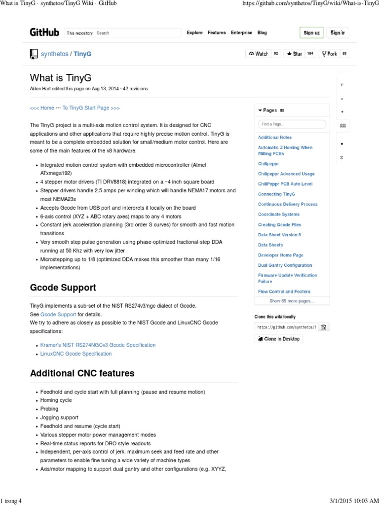 TinyG Wiki · GitHub   Central Processing Unit   Acceleration