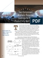 Two Component Aliphatic Polyurea Coatings for High Productivity Applications