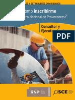 Inscripcion en El RNP Consultor u Ejecutor de Obras