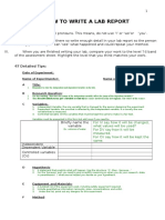 tips how to write a lab report