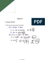 Algebra II-9 Notes April 9