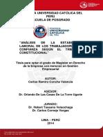 Despidos arbitrarios, nulos, incausados y sus repectivas formas en la legislacion peruana