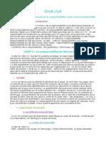 Droit Civil; LECON 1 Cours - Le droit commun de la responsabilité civile extra-contractuelle