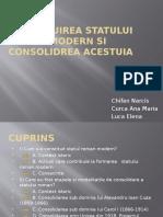 Constituirea Statului Roman Modern Si Consolidrea Acestuia