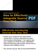 how to effectively integrate sources into your text