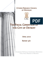 Fiscal Condition of the City of Detroit