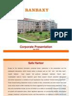 Corporate Presentation of ranbaxy