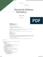 Plan Nacional de Gobierno Electrónico