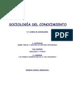 Apuntes sociologia del conocimiento