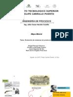 MAPA MENTAL DE EVOLUCION DE SISTEMAS DE PRODUCCION