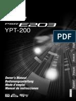 Yamaha PSRE203 Deutsch