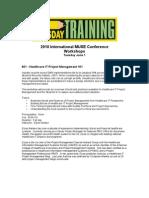 Tuesday Training - Workshops