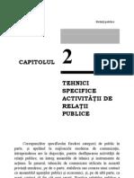 Tehnici specifice operatiunilor de relatii publice