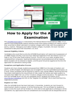 How to Apply for the AIPGMEE Examination