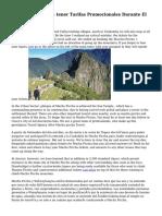 Machu Picchu Va a tener Tarifas Promocionales Durante El dos mil quince