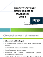 Instrumente Software Pentru Proiecte de Marketing, Curs 1