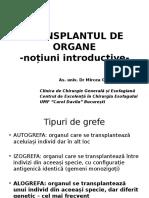 Transplantation Curs Studenti