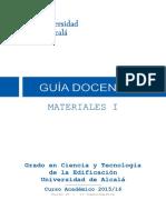 Guia Docente Materiales i Gcte (Curso 2015-16)