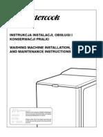 Instrukcja Pralki PT2-700A