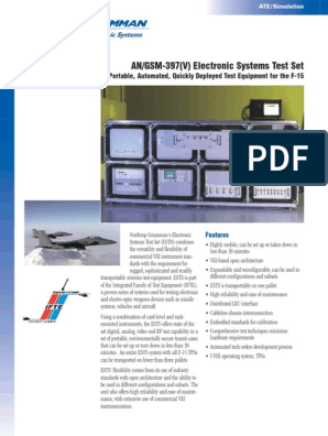 AN/GSM-397(V) Electronic Systems Test Set: Portable, Automated