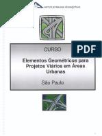 Elementos Geométricos Para Projetos Viários Em Áreas Urbanas
