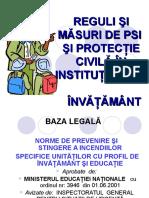 Reguli si masuri pentru preventirea incendiilor in Institutiile de Invatamant.ppt