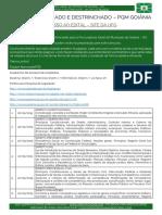 Cronograma de Revisão Para Procuradoria Geral Do Municipio de Goiania