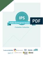 Informe de Progreso social Ciudades  intermedias colombia