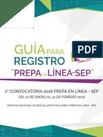 GUÍA Prepa en Linea Primera Convocatoria 2016