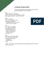 Pola Skrining Sistem Hemostasis