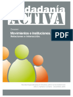 Movimientos e instituciones, Relación e Interacción. Revista Ciudadanía Activa núm. 4.