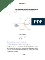 Parábola en Geometría Analítica