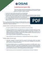 Informativo GRATUIDAD 2016 DGAE