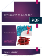 my growth as a leader