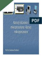 3. Razvoj Racunara i Mikroprocesora Razvoj Mikroprocesora