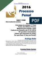 @Professorrodrigobello - 1ª Fase 2016 - Processo Penal