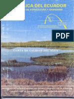 Carta de Calidad Del Agua Inerhi 1988 Cuenca Del Río Mira