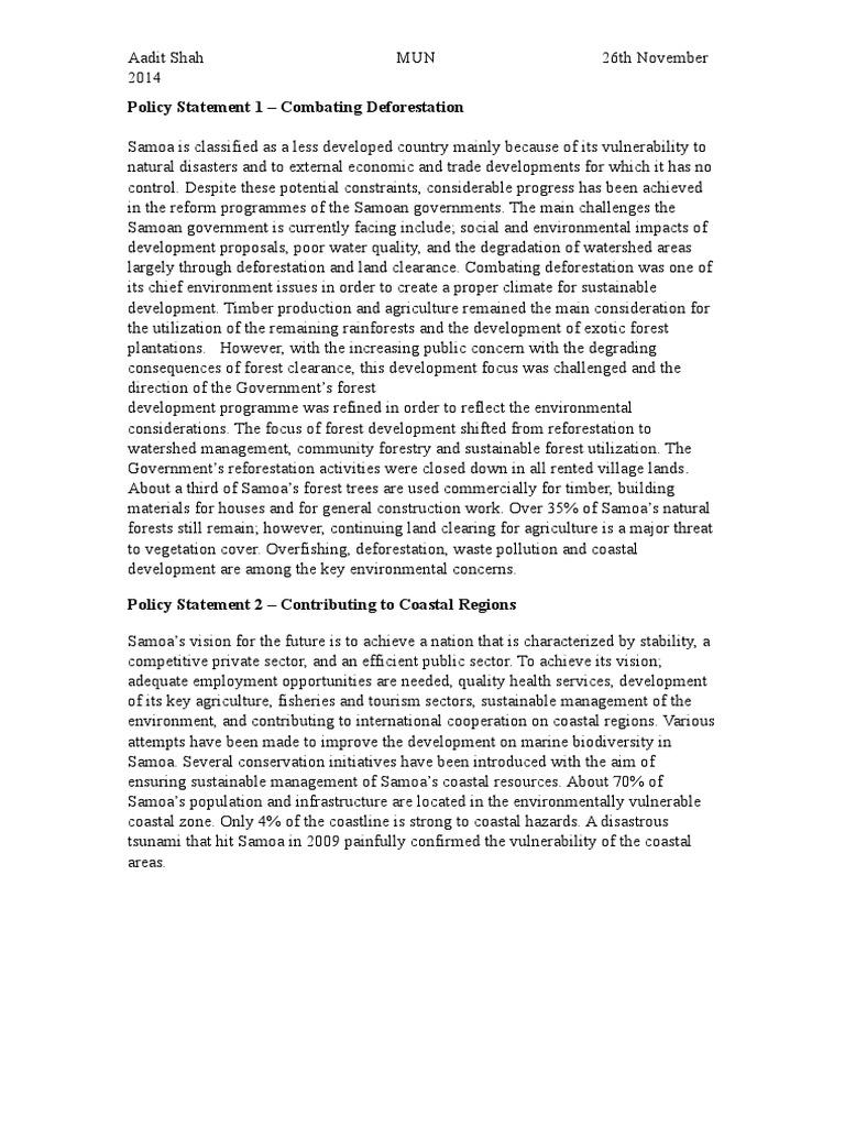 How to write an mun policy statement esl descriptive essay ghostwriters service au