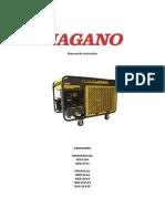 Gerador de Energia a Diesel 11,5 KVA Monofásico 110220v Partida Elétrica Nagano NDE12EA