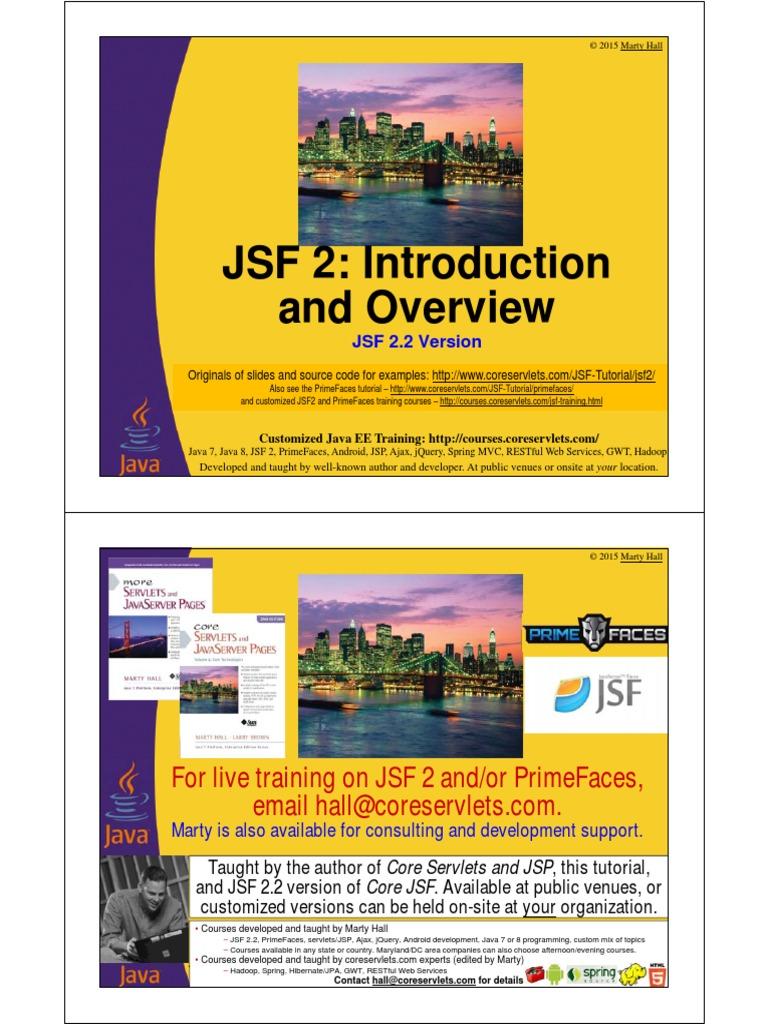 JSF2 Overview | Java Server Faces | Java Server Pages