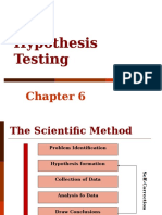 Research Methods Hypothesis Testing
