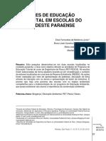 MEDEIROS JUNIOR et al AÇÕES DE EDUCAÇÃO AMBIENTAL EM ESCOLAS DO NORDESTE PARAENSE
