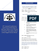 EALS Annual Conference and General Meeting Draft Program, 2014
