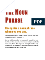 The Noun Phrase