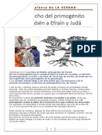 El derecho del primogénito de YisraEL - De Rubén a Efraín y Yehudá