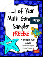 End of Year Math Games Sampler