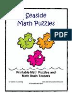 Seaside Math Puzzles