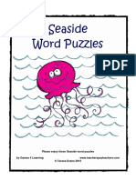 Seaside Word Puzzles